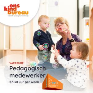 KC De Groote Wielen: pedagogisch medewerker, peutergroep 27-30 uur